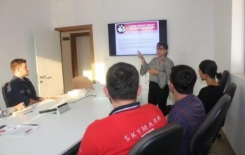 "A lecture was given called ""Improving Socio-Economis Support Systems Of Women Victims Of Violence"